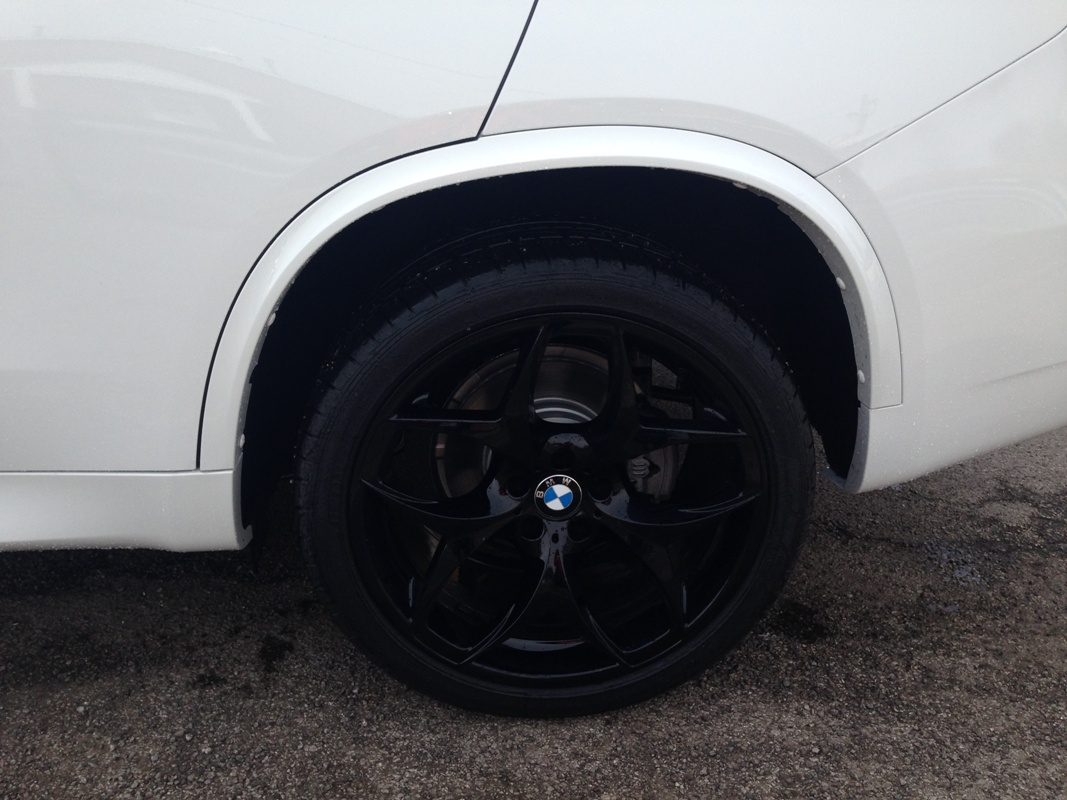Style 215 Gloss Black Wheels Fitted On Alpine White F15