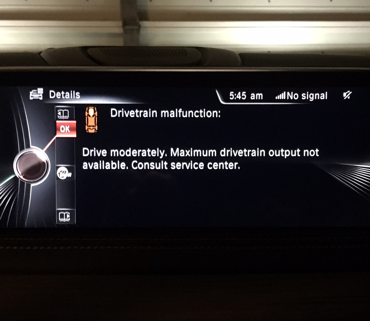Drivetrain Malfunction Drive Moderately Maximum Drivetrain Output Not Available Bmw X5 And X6 Forum F15 F16