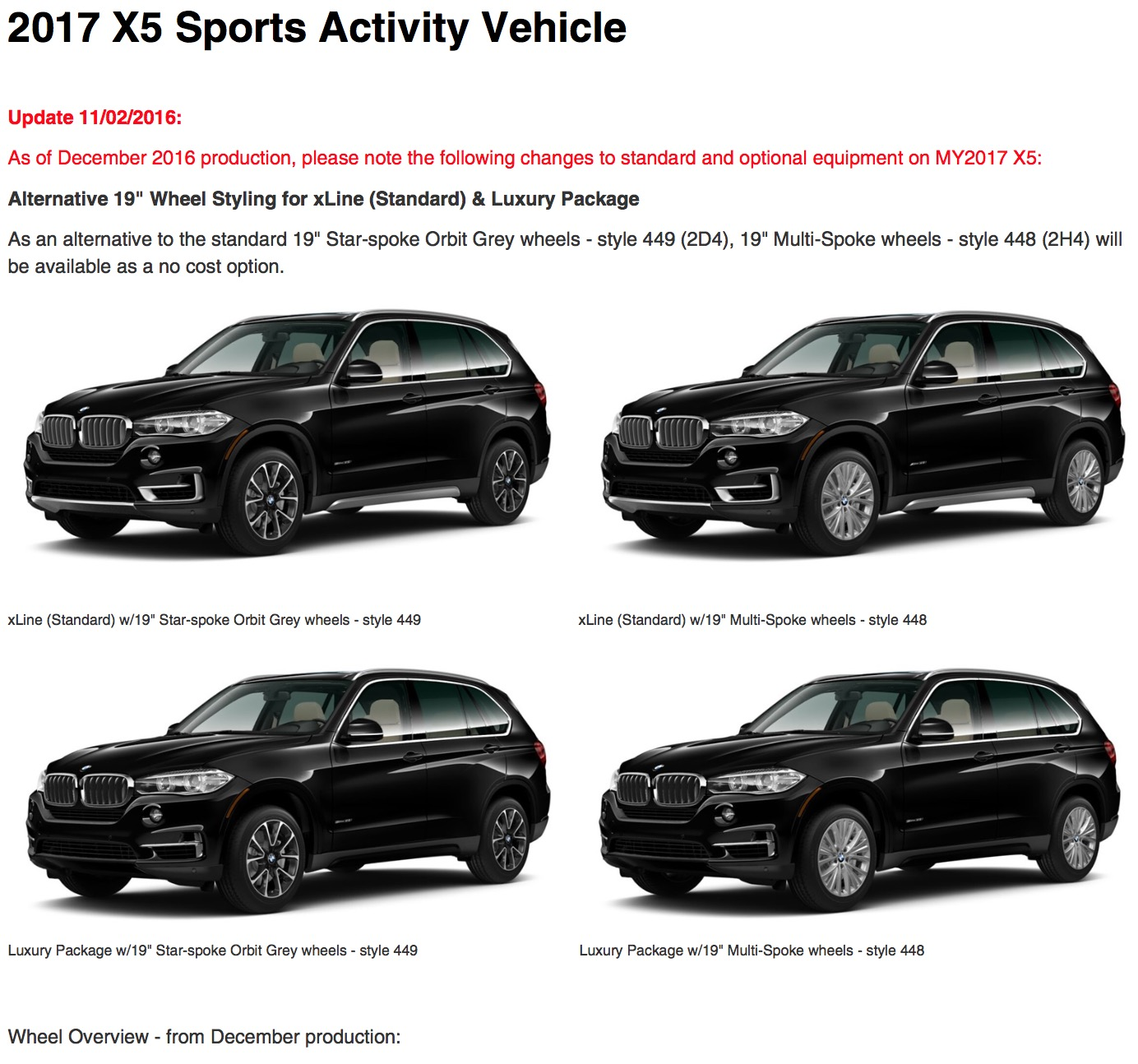 2017 Bmw X5 And X6 Standard And Optional Equipment Changes Bmw X5 And X6 Forum F15 F16