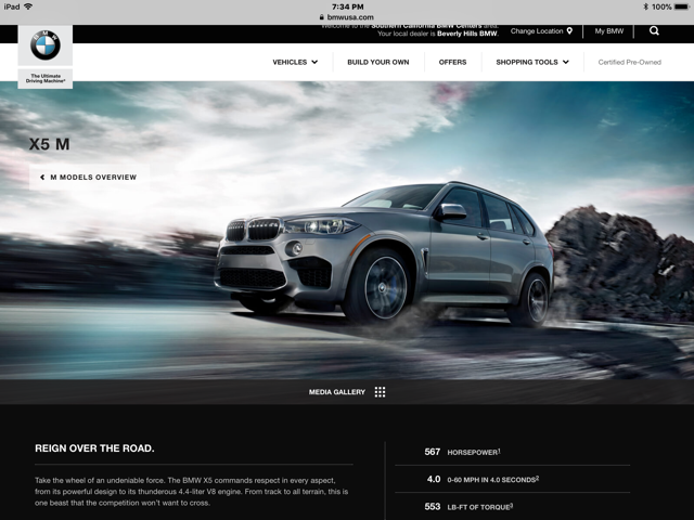 2018 X5 M And X6 M 0-60 On Bmw.usa Website a9f96c348