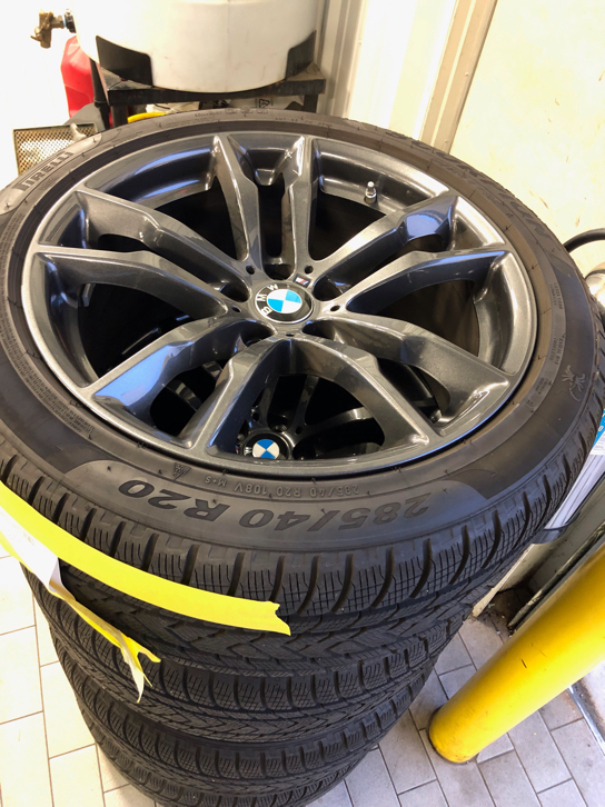 X6m X5m Winter Oem Wheels And Tires Package For Sale