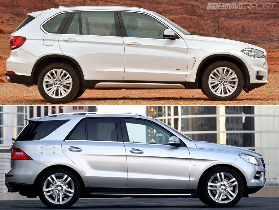 2014 bmw x5 f15 vs mercedes ml compared autos post. Black Bedroom Furniture Sets. Home Design Ideas