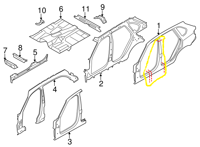 searching for B-pillar and rocker panel for F15